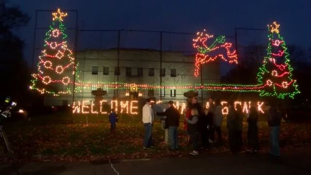 The Lights in Nay Aug Park Are On-
