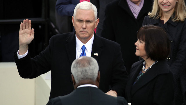 Mike Pence sworn in vice president15495669