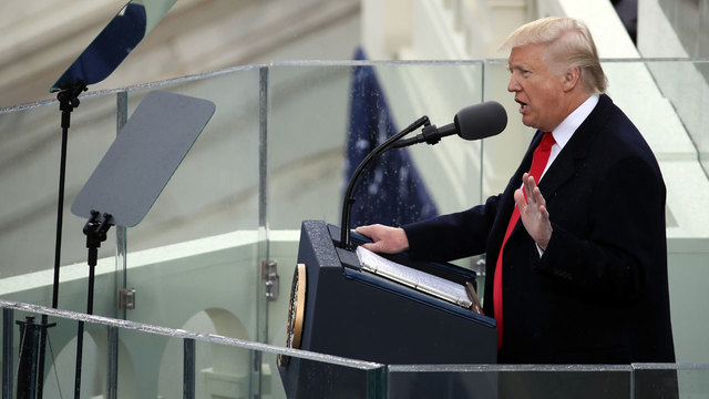 President Donald Trump delivers inaugural address64455259