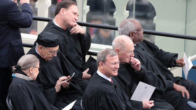 Supreme Court justices at inauguration55783957