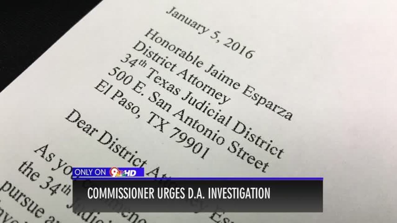 Commissioner Perez Requests District Attorney Investigation in ...