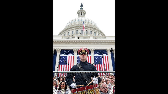 drummer in front of US Capitol for inauguration14837975