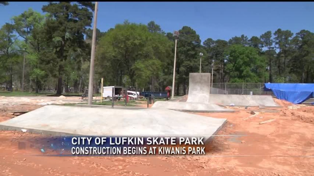 Construction Underway For Lufkin Skate Park
