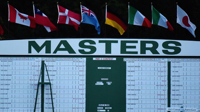 Masters scoreboard before 2017 first round49555761