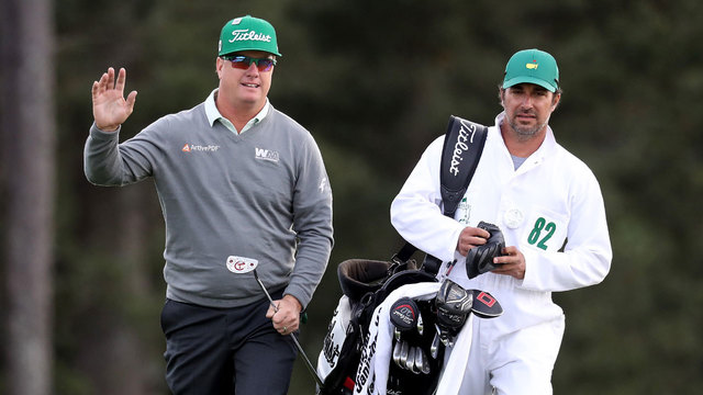 Charley Hoffman on 18th hole during 2017 Masters first round79527630