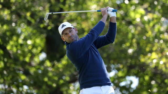 Sergio Garcia tees off during 2017 Masters second round24279173