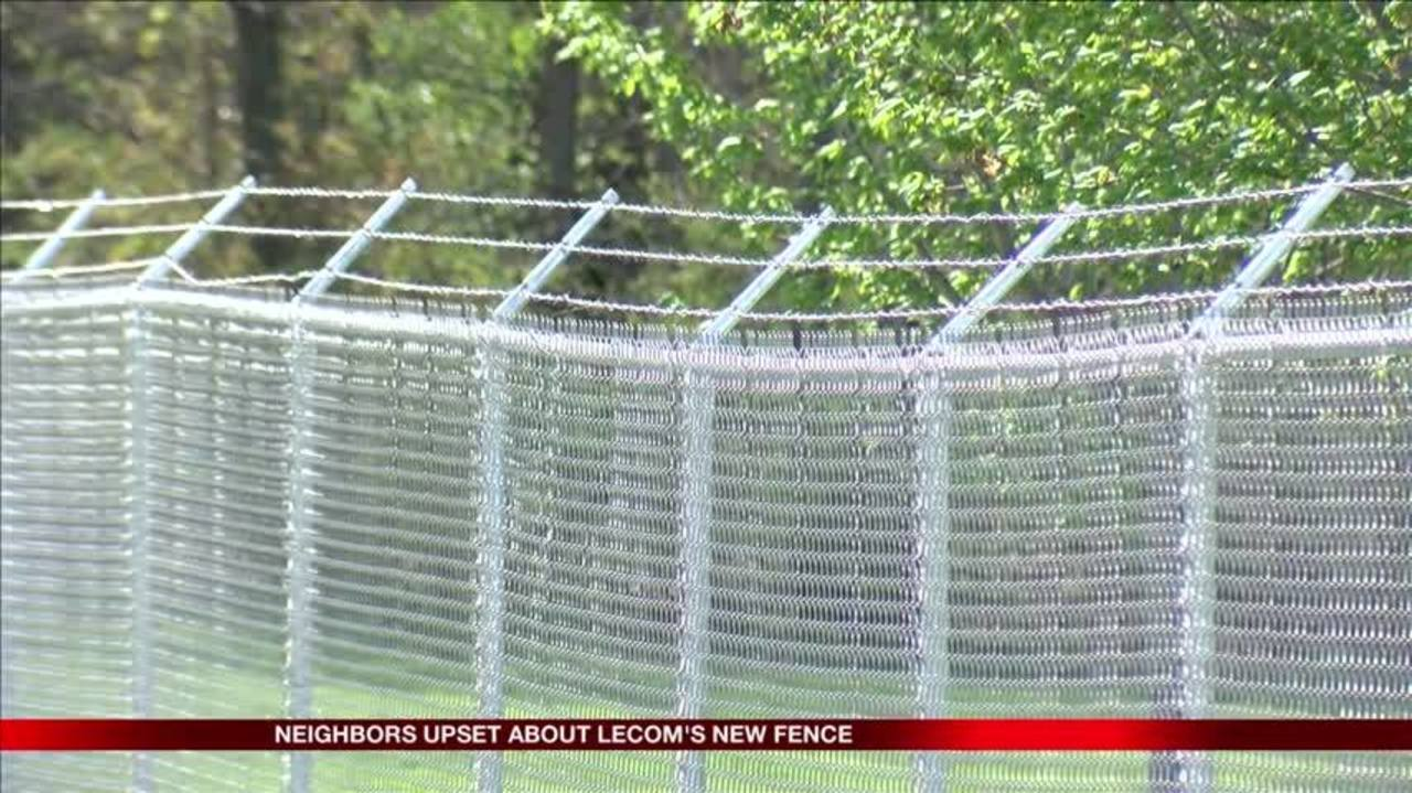 Neighbors upset about LECOM\'s barbed wire fence