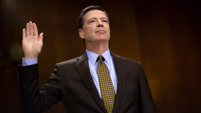 Comey may find himself boxed in     by himself