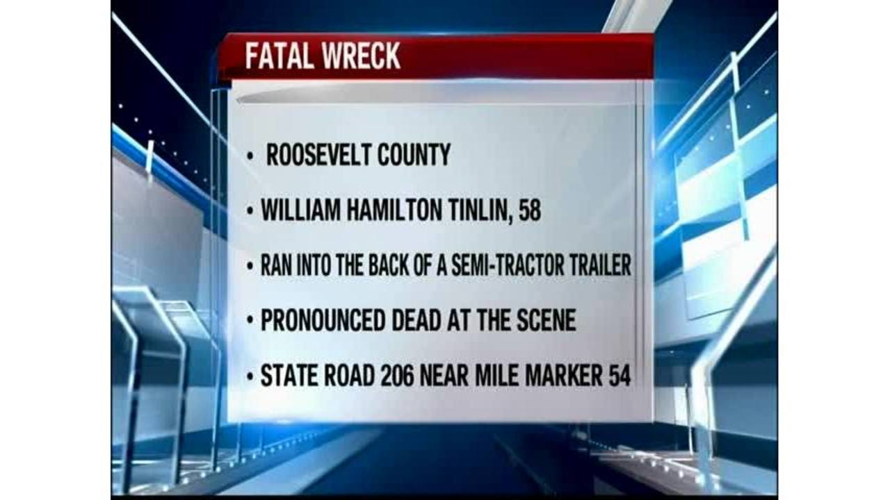 A Crash in Roosevelt County Leaves One Dead and Another Injured