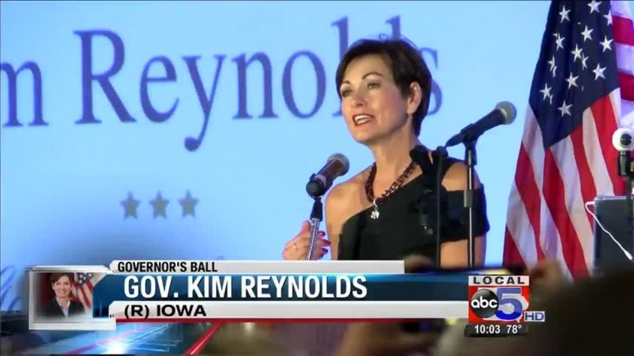 Governor\'s Celebration: Gov. Kim Reynolds addresses hundreds at ...