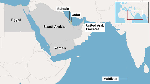 Iran send planes stuffed with food to Qatar Qatar Country World Map on