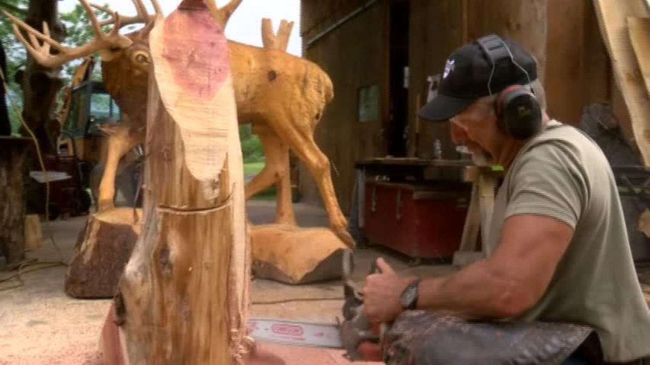 Man wins chainsaw carving world championship