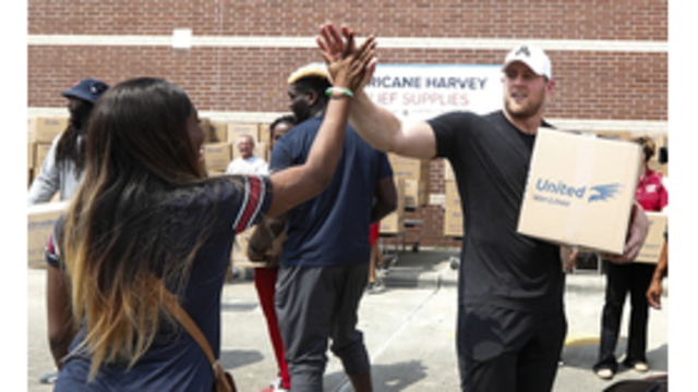 Texans' Watt recognized for Hurricane Harvey charity efforts