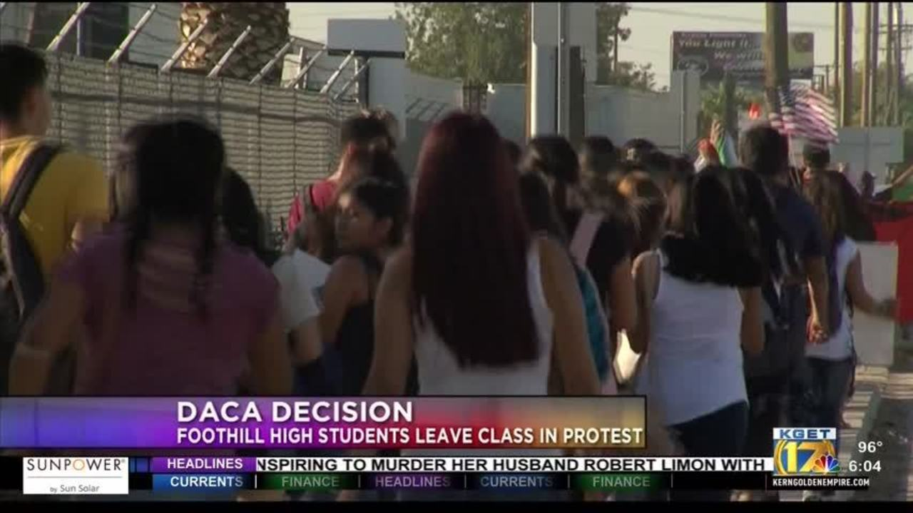 Foothill High School Students Walk Out In Protest Of Rescinding Daca