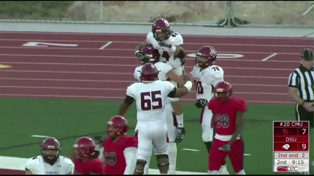 Cmu Football Mavs Take First Place With Win Over Dixie State