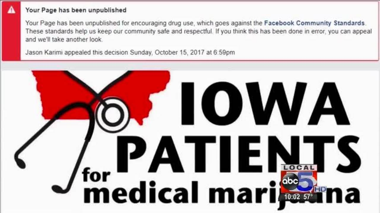 Medical Marijuana Facebook Page Banned