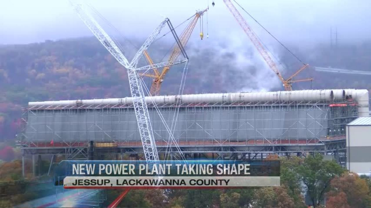 New Power Plant Taking Shape In Lackawanna County Layout Fire Red