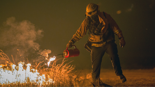 Thomas Fire in California Dec 9 Firefighter sets backfire.jpg34004195