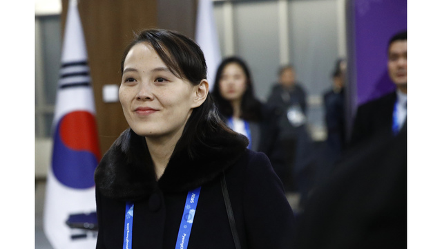 The Latest: Kim's sister says hopes to see Moon in N. Korea