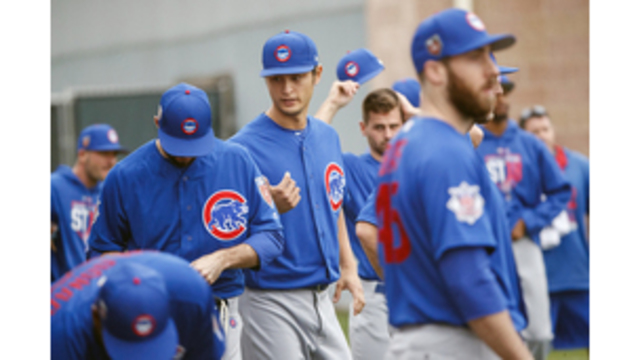 With Darvish, well-armed Cubs hold first spring workout