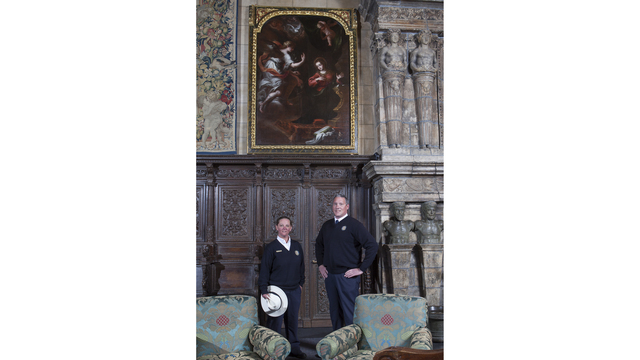 Sunlight helps ID Hearst Castle painting as 17th century