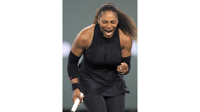 Serena Williams wins 1st match in comeback at Indian Wells