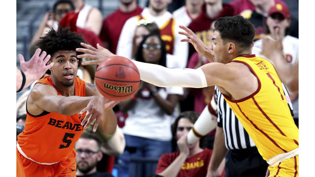 USC knocks off Oregon State 61-48 in Pac-12 quarterfinals