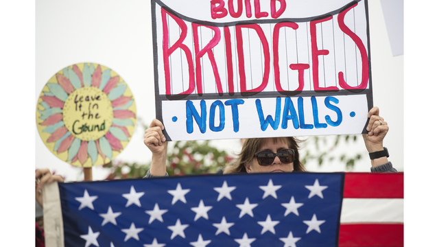 Trump's visit to California sparks protests, rallies