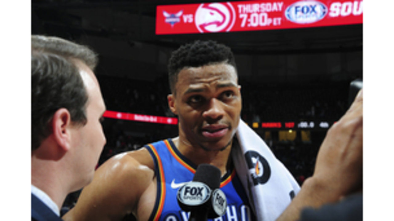 Westbrook picks up 100th triple-double