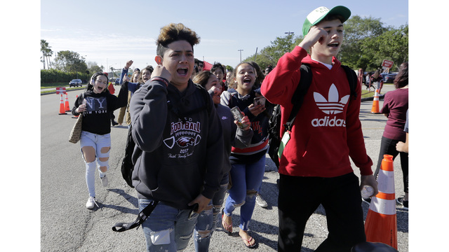 Langston Hughes Middle School Students Stage Walkout
