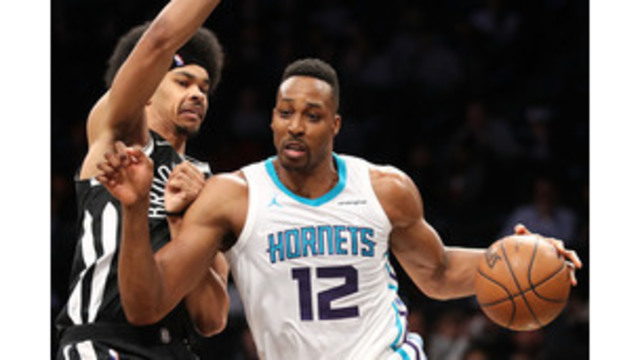 Dwight Howard leads the Charlotte Hornets past the Brooklyn Nets, 111-105