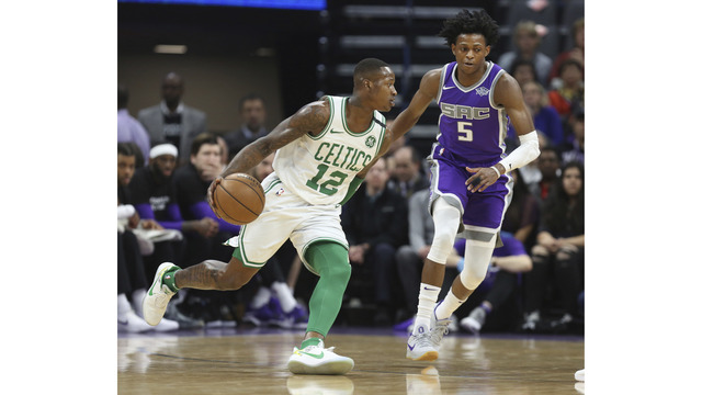 Kings, Celtics players wear Stephon Clark shirts prior to game in Sacramento