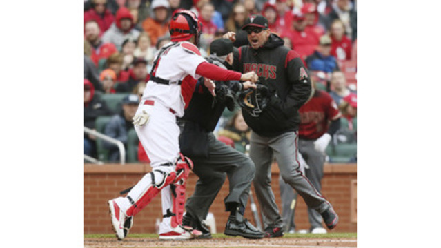 Yadier Molina: Suspended for one game