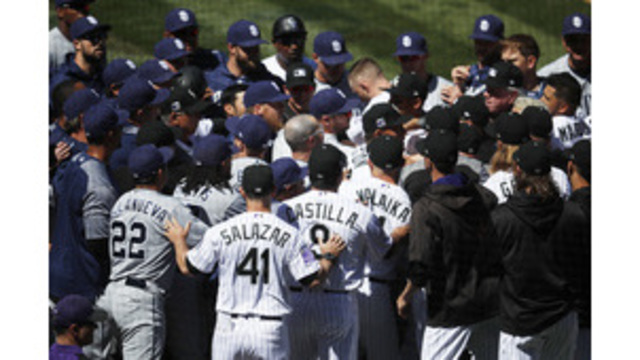 Rockies, Padres Get Into Benches-Clearing Scuffle After Nolan Arenado Charges Mound