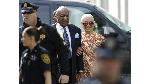 For 11 days she stayed away. Today, Bill Cosby's wife attended his retrial for the first time