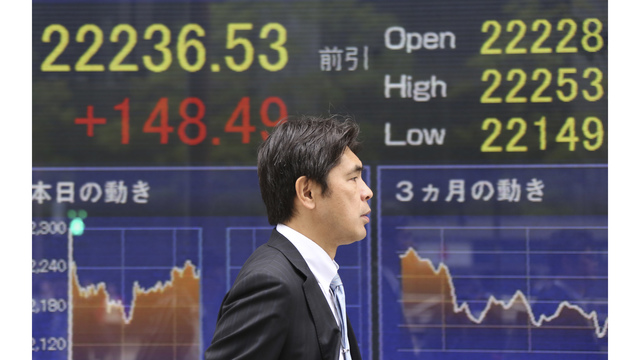 Asian shares advance as USA bond yields push dollar higher