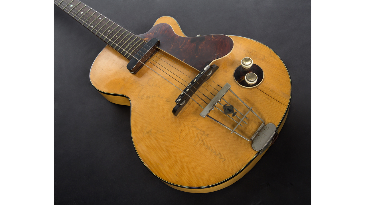 Image result for George Harrison's First Electric Guitar Up for Auction