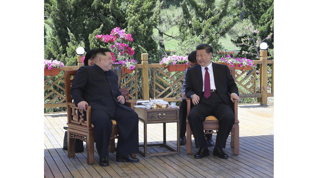 N. Korea's Kim meets China's president ahead of Trump summit