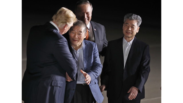 Pompeo returning from North Korea with 3 American detainees, Trump says