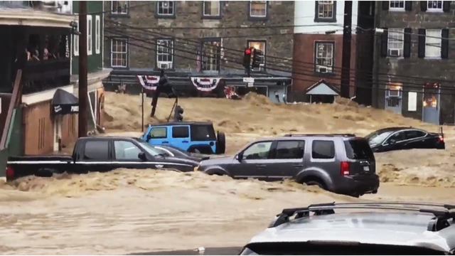 Devastating flood waters rip through Ellicott City, Maryland
