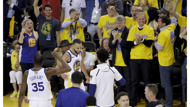 super popular 48e62 d2972 Warriors withstand James  51 points to win NBA Finals Game 1