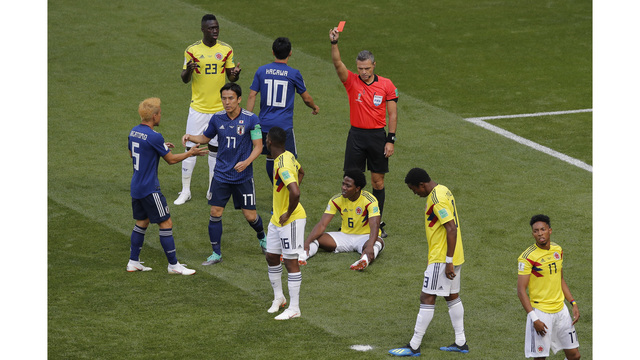Colombia Midfielder Gets Second Fastest World Cup Red Card