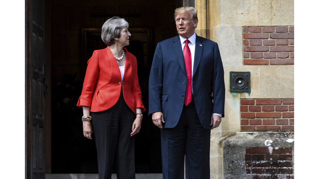 Trump: Relations with May 'strong' after bombshell interview