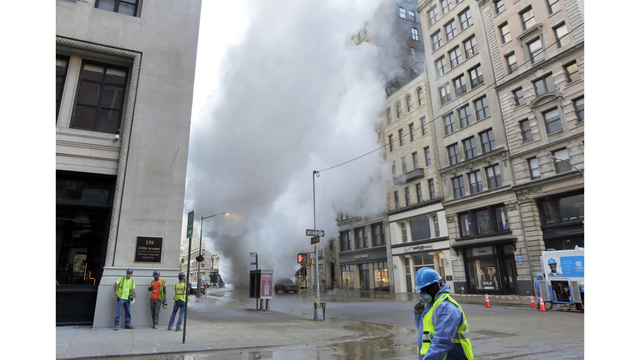 High Pressure Steam Leak In Manhattan No Injuries Reported
