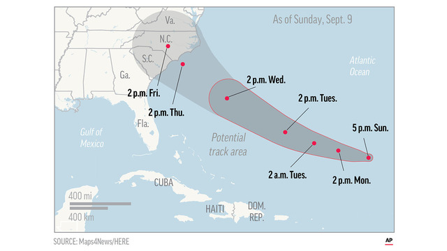 The Latest Tropical Storm Florence Turns Into A Hurricane