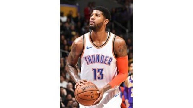 9e0680558df8 Paul George gets 37 amid boos in OKC s 107-100 win at Lakers