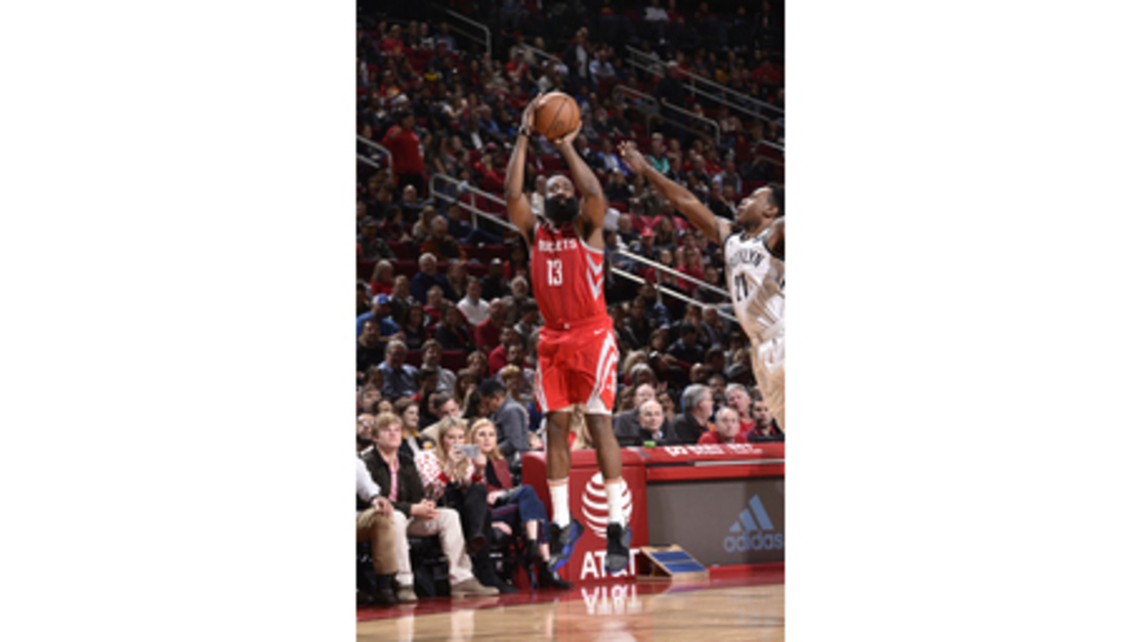 new product f5e09 e3d15 Harden has 58 but Nets top Rockets in OT