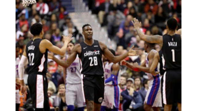 4045d49a971 Wizards  defense steps up in 101-87 victory over Pistons