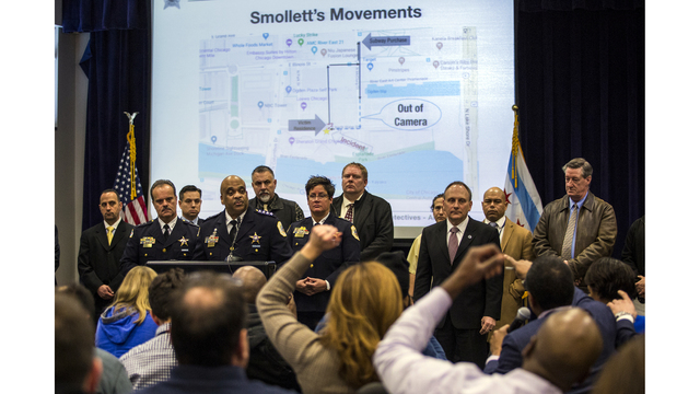 The Latest: Police: Video helped track duo in Smollett case