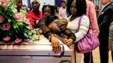 Grandmother of Little Girl Found Dead in Duffel Bag Sobs Over Her Pink Casket at Funeral